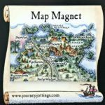 Fridge Magnet of the Top End of Australia - Darwin