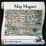 Fridge magnet with a map of Back of Bourke