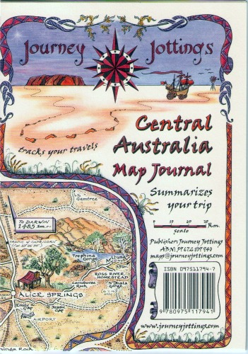 Central Australia Map Journal Front Cover