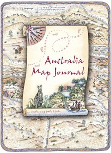Special Edition Australia Map Journal Front Cover