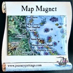 Cairns Map Magnet Australia