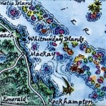 Whitsunday Islands Australia map magnet
