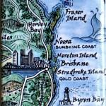 Fraser Island to Byron Bay Australia Map Magnet