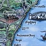 Sydney Map Magnet Australia