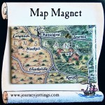 Outback Queensland Map Magnet on backing card