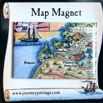 Broome, Western Australia Map Magnet on backing card