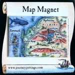 Ningaloo Reef Map Magnet Australia