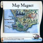 SW W.Australia Map Magnet
