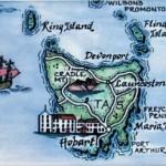 Tasmania Map Magnet Australia