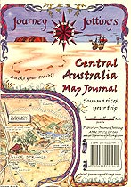Central Australia Map Cover for summarizing your trip