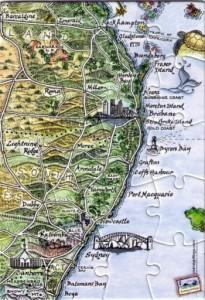 East Coast Australia Jigsaw Puzzle Postcard