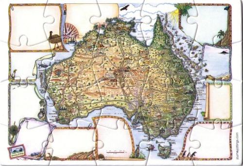 Australia Jigsaw Puzzle Postcard
