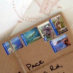Selection of Australian Stamps on the package