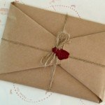 Brown Paper & sealing wax gift wrapping