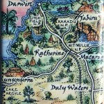 Daly Water to Darwin Map Magnet