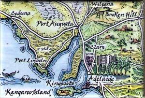 Eyre Peninsula, South Australia Map Magnet