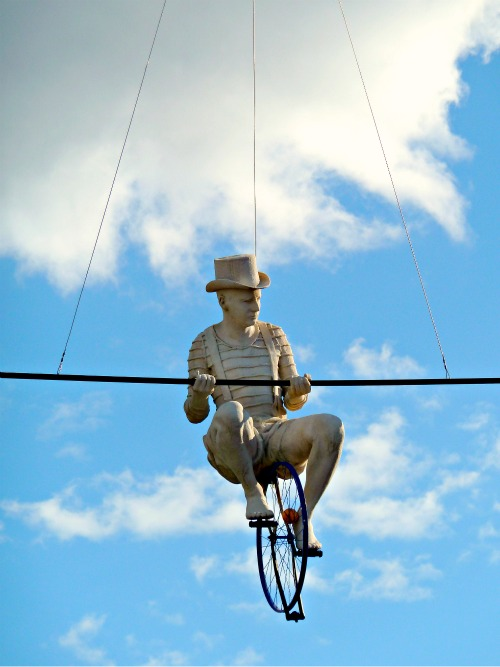 Man on a Tight Wire, South Bank, Brisbane