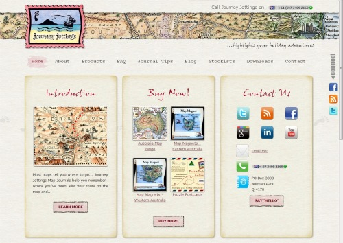 New Home Page Journey Jottings