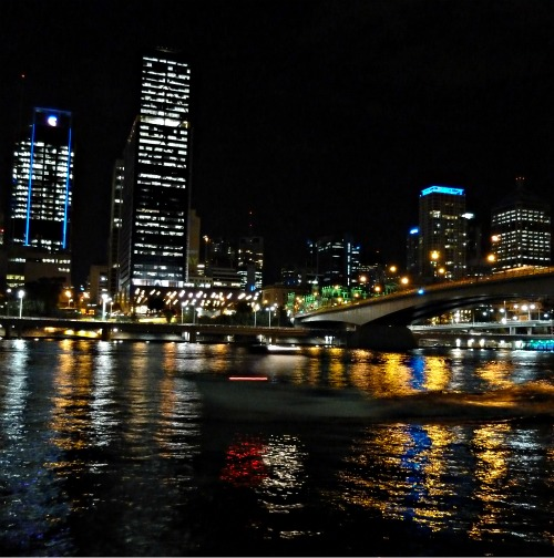 Brisbane at Night by Victoria Bridge