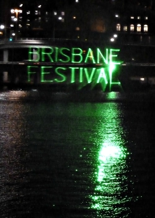 Brisbane Festival Laser Light Show September 2011