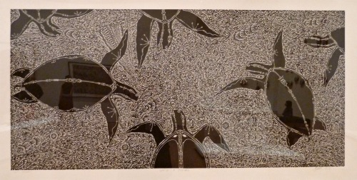 Turtle linocut