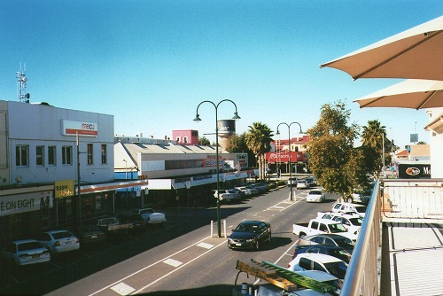 Mildura's main street - from Hudak's Bakery