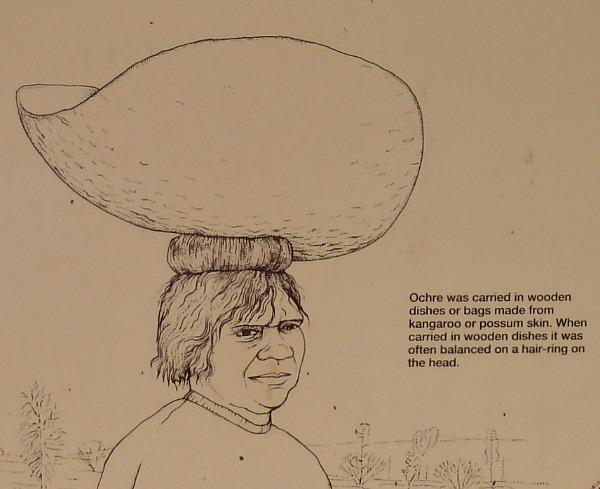 Aboriginal coolamon on Head ring