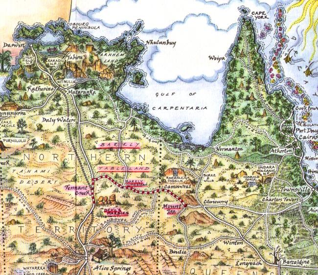 Barkly Tablelands map
