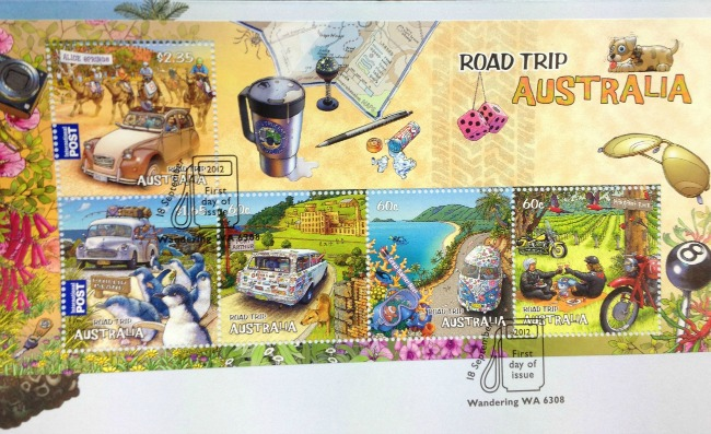 Australia Post Road Trip Stamps