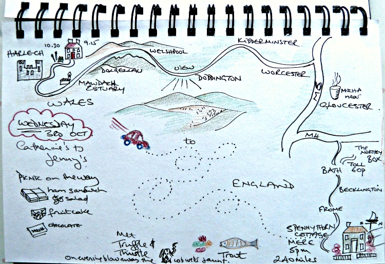Image: Travel Journal storyboard