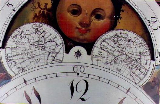 longcase clock dial