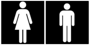 Toilet symbols are pictographs