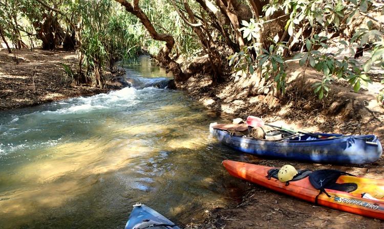 kayak Katherine river