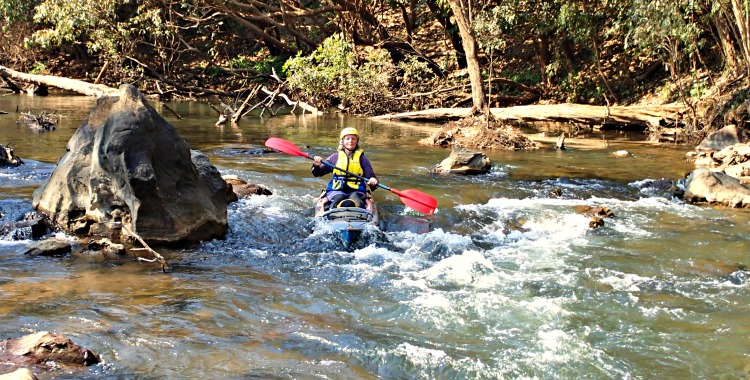 White water kayaking on the Katherine River