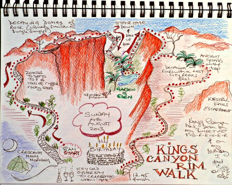 The Rim Walk at Kings Canyon Story-Map