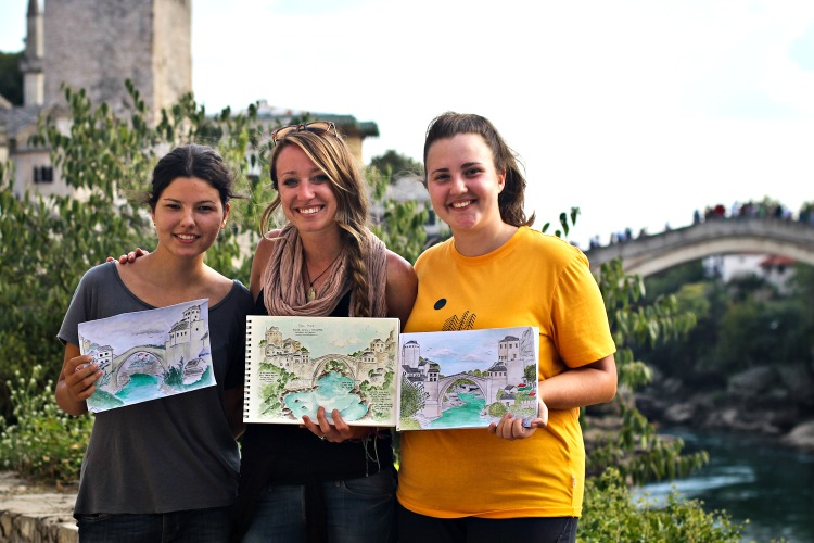 Candace Sketching - Mostar