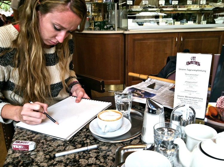 Candace sketching - Vienna