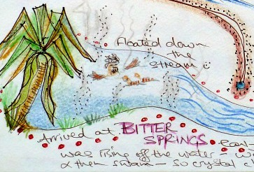 Symbolically representing vegetation in a travel journal story-map