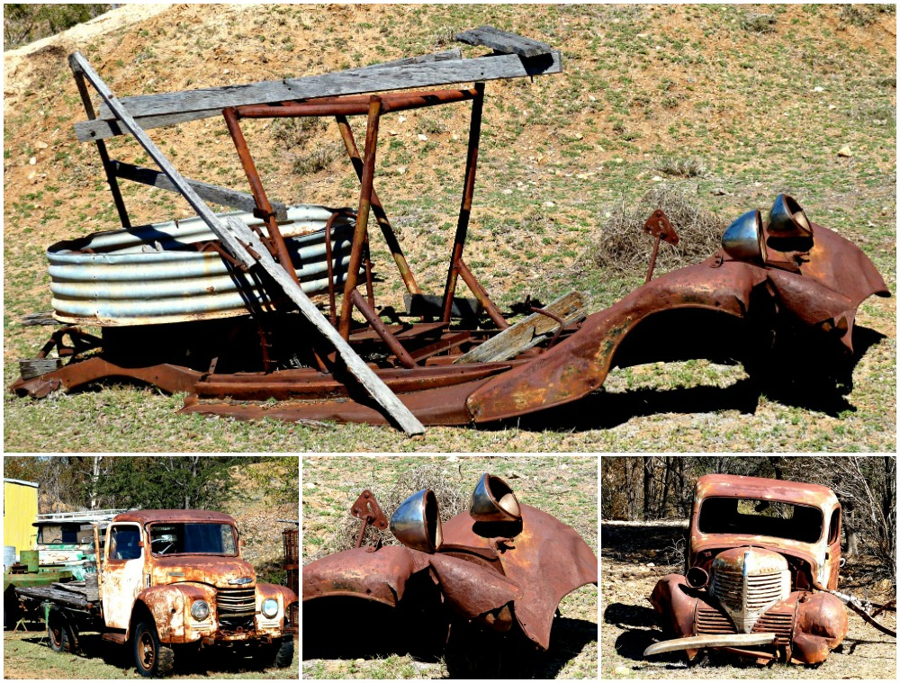 Rusty vehicles in the gemfields queensland