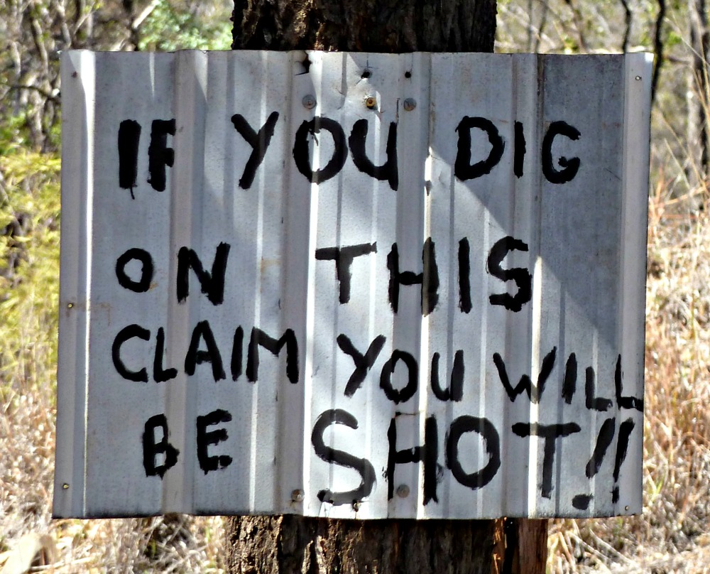 Australian Funny Sign - You will be shot