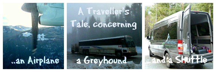 A travellers tale concerning an airplane a greyhound coach and a shuttle bus