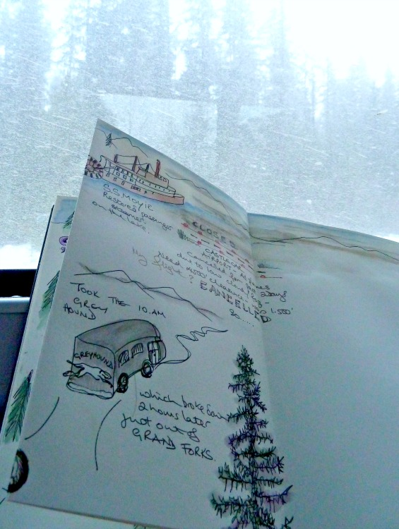 Travel journalling en route
