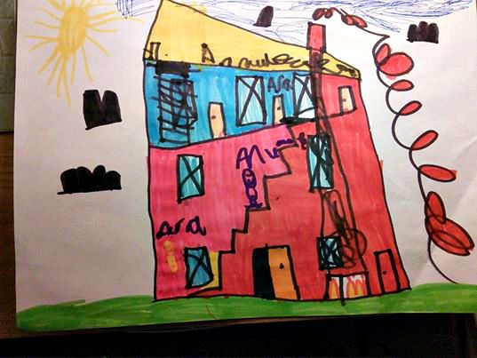 Drawing by a 5 year old of his house