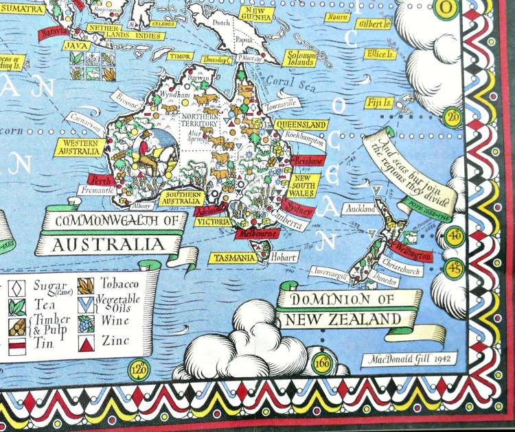 Pictorial Map MacDonald Gill