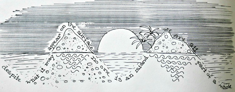 Illustration showing how no one is an island