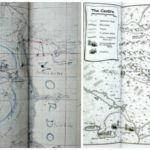 Hand drawn pictorial maps of Mordor and the Middle Earth of Australia