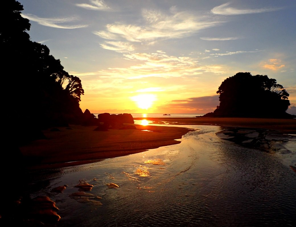 Abel Tasman sunrise at Mosquito Bay NZ