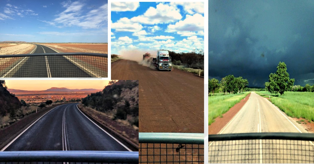 The road around Australia as seen by a truck driver
