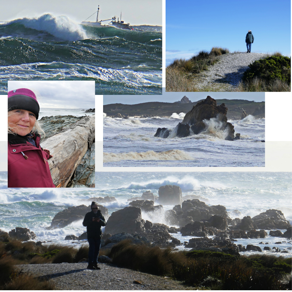Collage of wild windy seascapes on the west coast of Tasmania